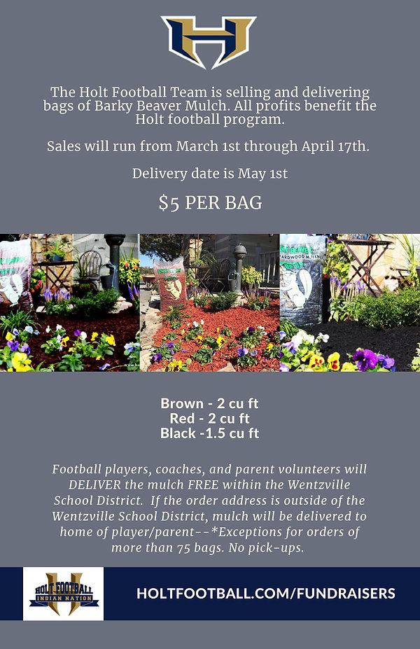 Holt Indian Football Mulch Fundraiser