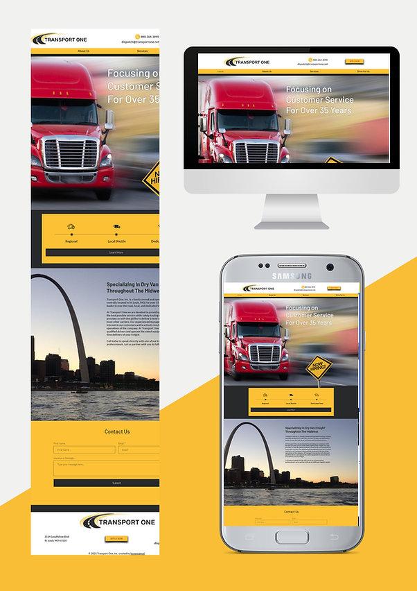 website design for transportation company
