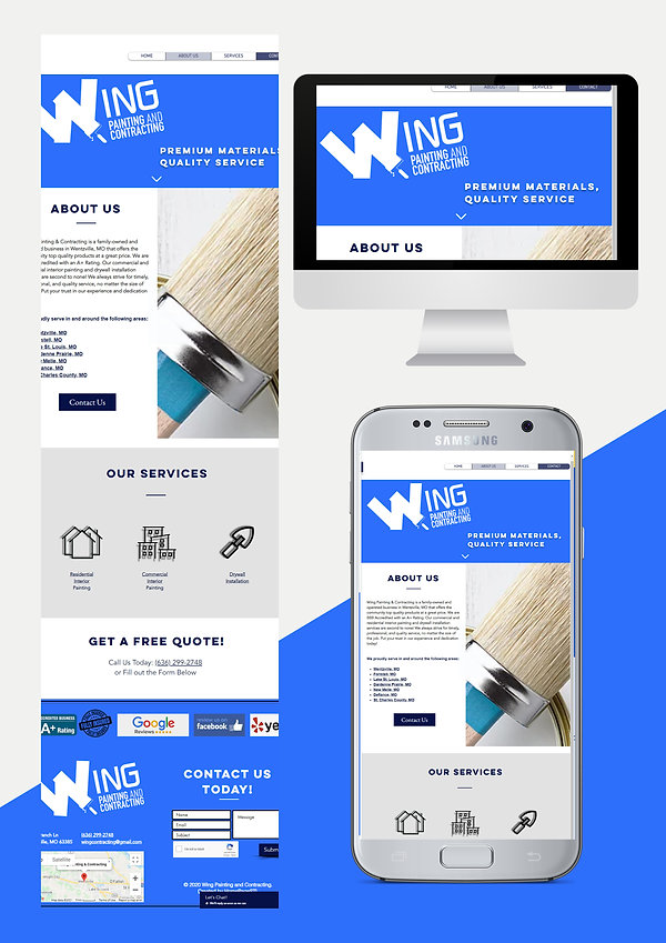 website design web design for painting and contracting