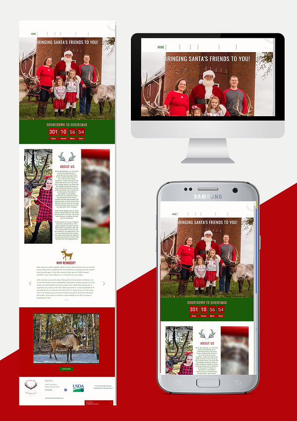 website design web design for santa's reindeer