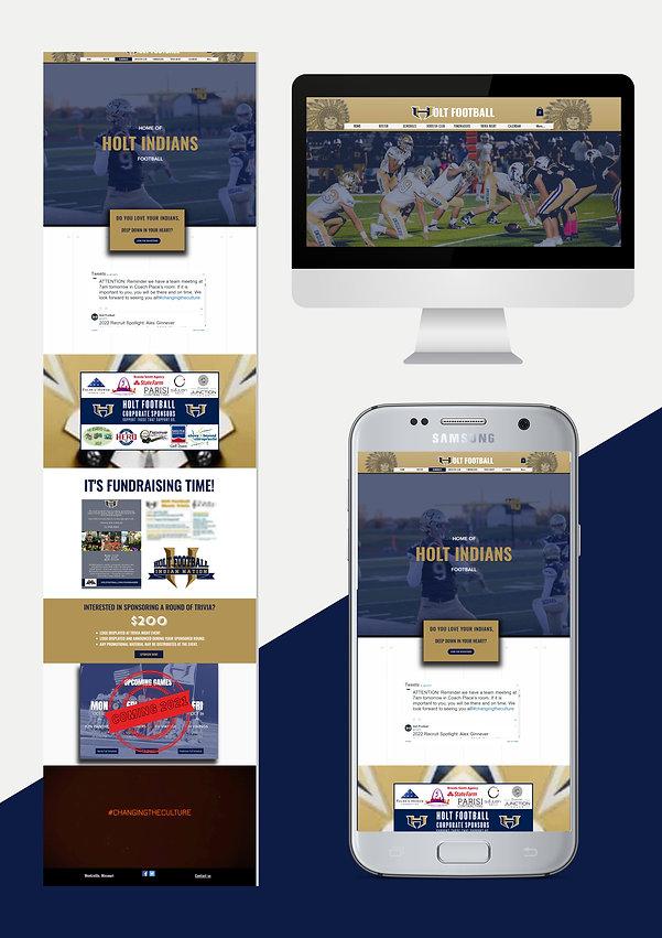 Website design for high school sports high school footbal web design