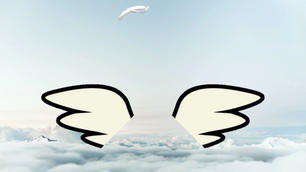 Animated Angel Wings Zoom Virtual Backgr