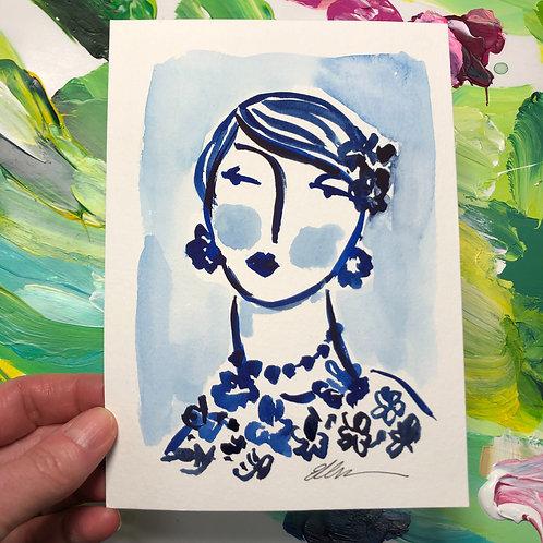 """""""Elle"""" Original Watercolor"""