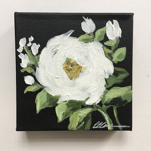 White rose small painting #3