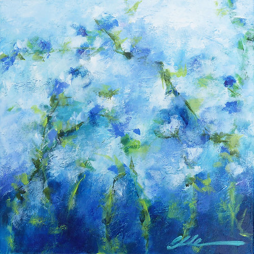 Abstract blue floral no.3