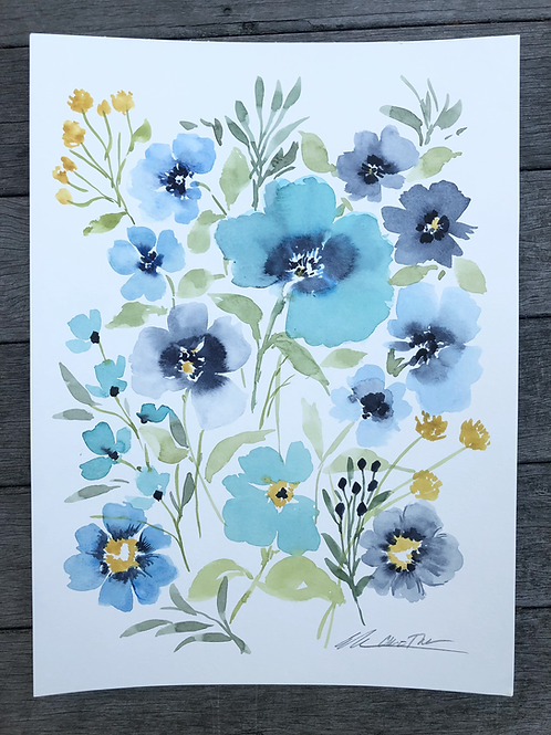 Watercolor Chatham Blooms