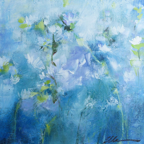 Abstract blue floral no. 2