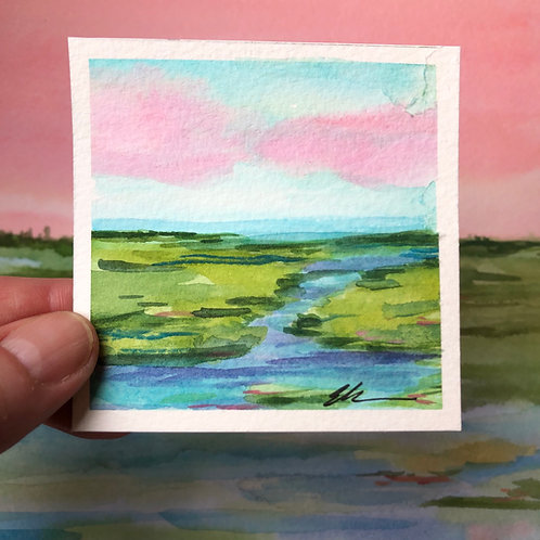 Mini coastal abstract watercolor