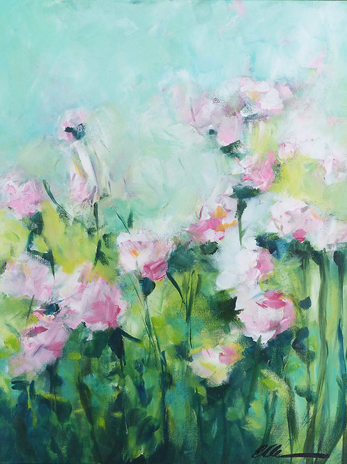 Abstract impressionistic roses