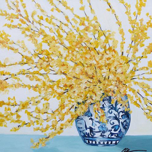 Forsynthia in a vase
