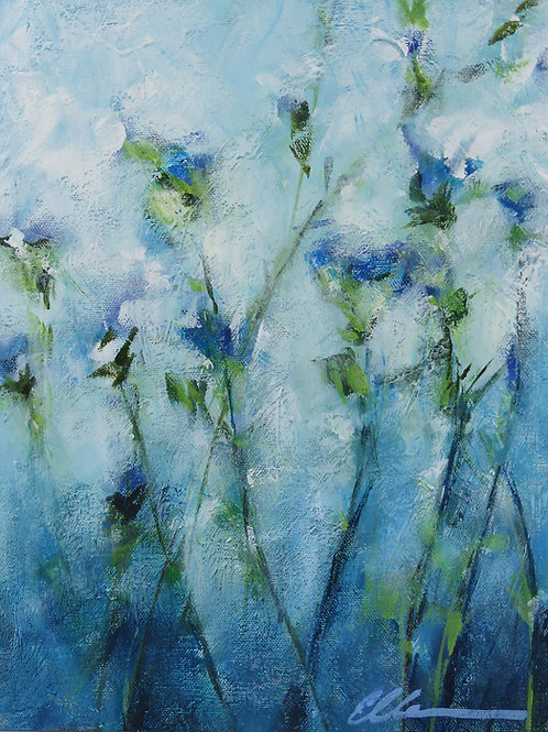 Abstract blue floral no. 1