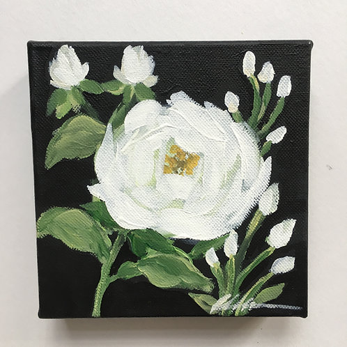 White Rose small painting #4