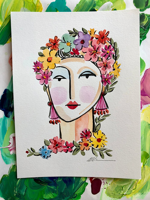 """Sabrina "" Original Watercolor"
