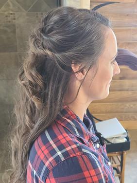 Mountain Bridal Half-Up Side