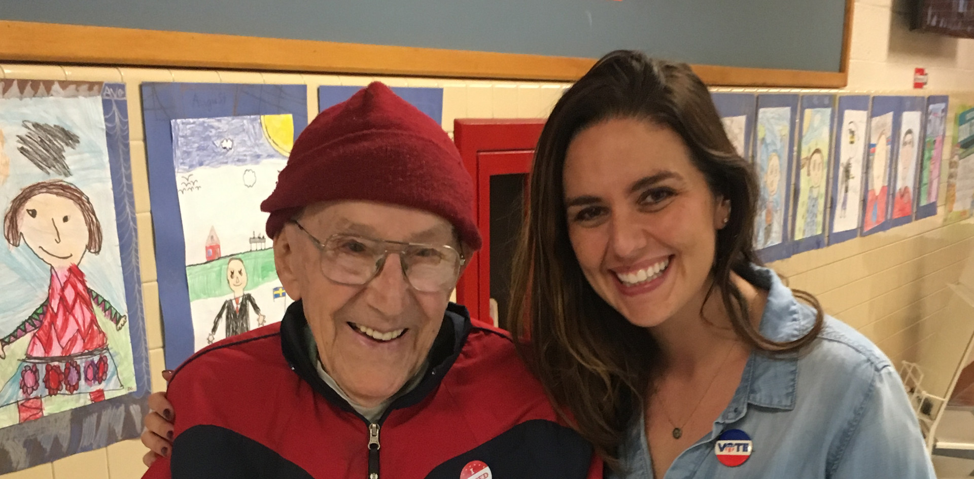 Molly McGrath with a Wisconsin Voter