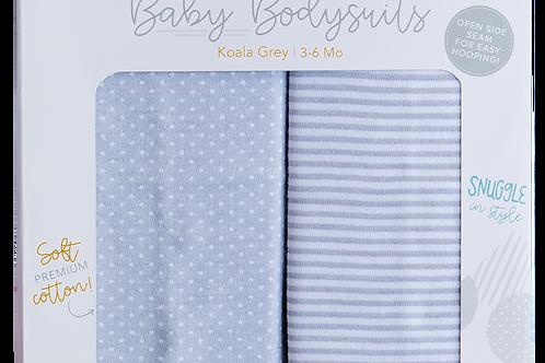 Baby Bodysuits - Koala Grey