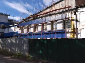 Продолжаются работы по строительству объекта «Реконструкция здания, г. Сыктывкар, ул. Савина...