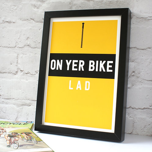 On Yer Bike Lad Cycling Jersey Print
