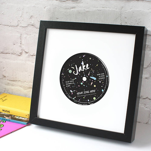 80s style Personalised Record Label Print