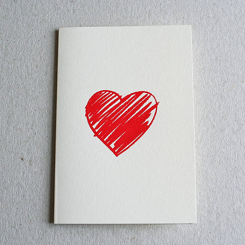 Crayon Heart Card