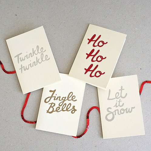Mixed Pack of Hand Printed Cards