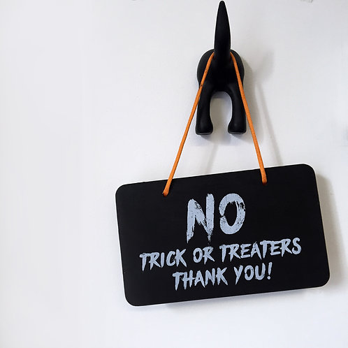 Halloween Decorations, No Trick Or Treaters Sign