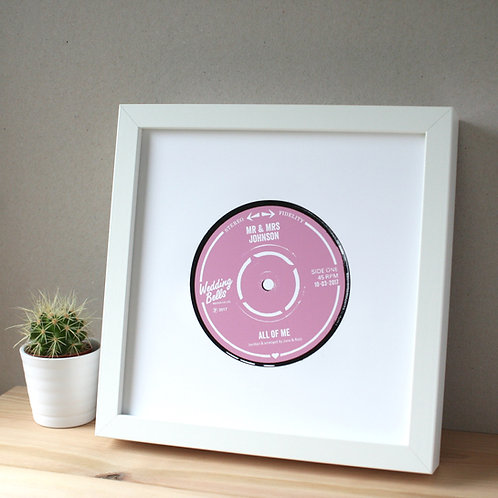 Personalised Wedding Record Label Print
