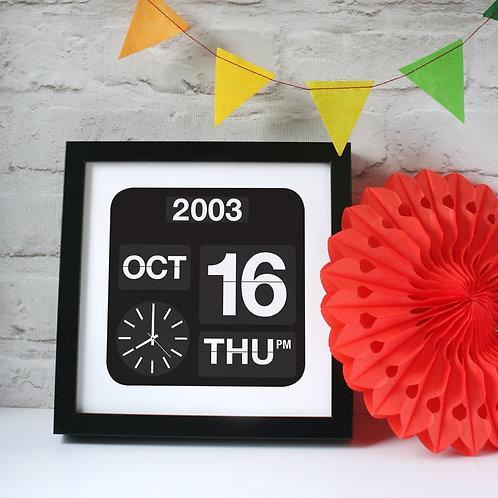 Personalised Calendar Date Print