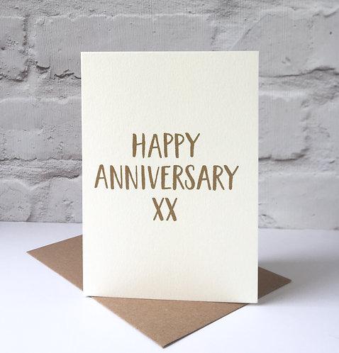 screen printed anniversary card