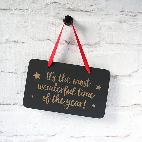 Most Wonderful... Hanging Christmas Sign