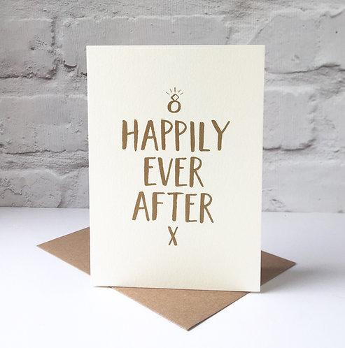 screen printed wedding card
