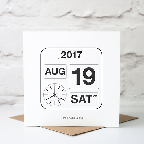 Personalised Special Date Calendar Card
