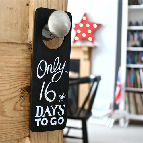 Countdown door hanger