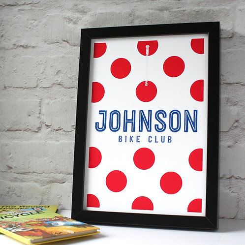 Personalised King Of The Mountains Cycling Jersey Print