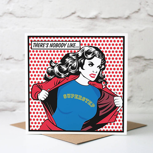 Personalised Super Hero 'Other Mother' Card