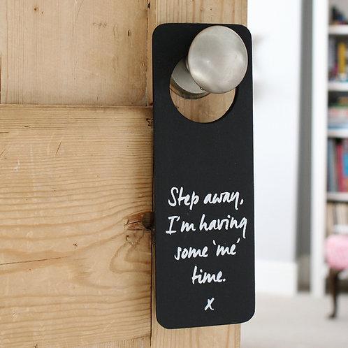 'Me Time' Doorhanger