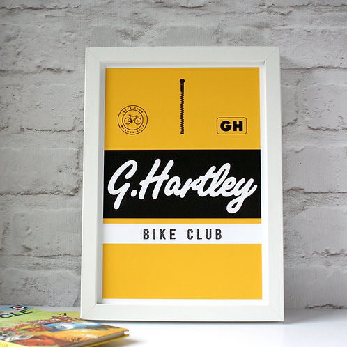 Personalised Tour De France Yellow Jersey Print