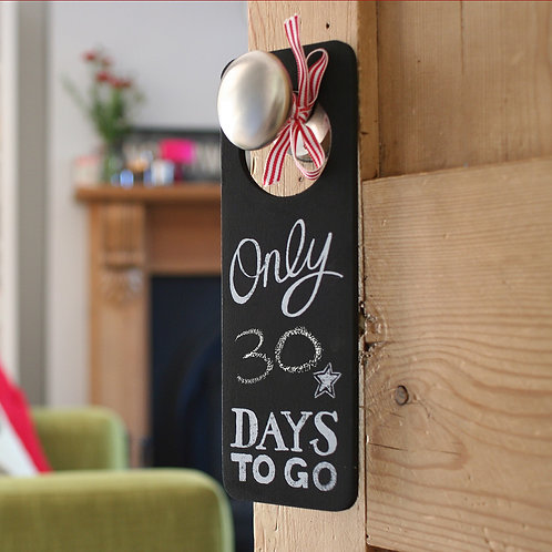 Big Day Countdown Door Hanger