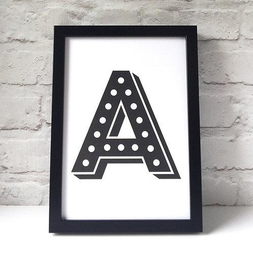 Circus Light Alphabet Print