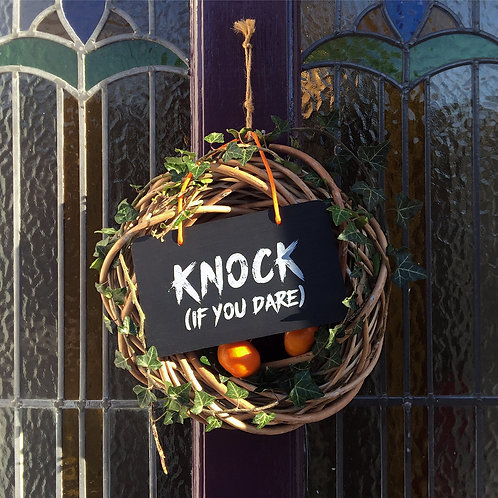 Front Door Decor, Halloween Decoration, Farrow & Ball Pelt,