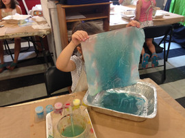Dying Fabric with Liquid Paint