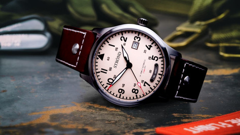 Strond vintage pilots watch automatic.jp