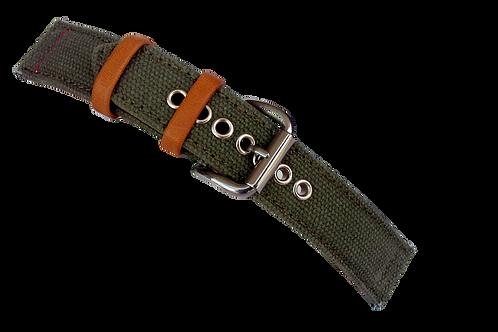 Strond automatic watch  vintage canvas watch strap