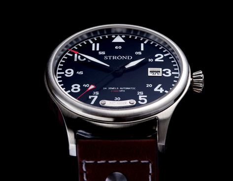 Strond automatic watch with black dial.jpg