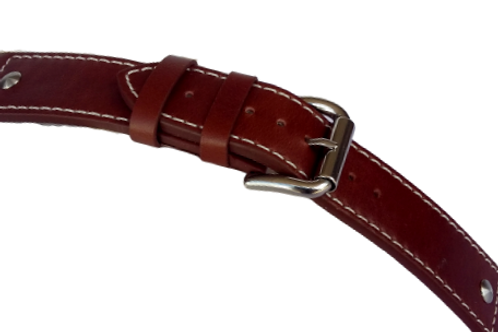 Strond leather vintage watch strap