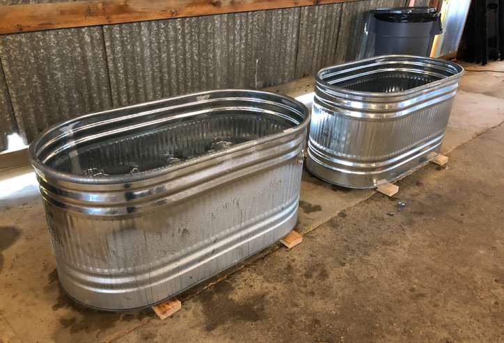 2 Self serve water troughs for non-alcoholic drinks