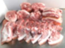 What a butchered half hog looks like