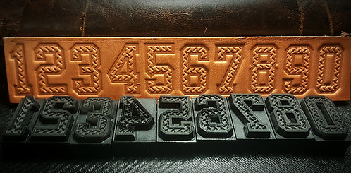 Diamond Plate Number Set