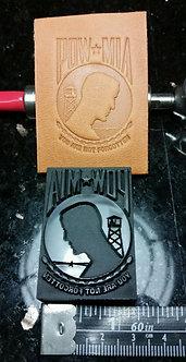 POW-MIA Leather Stamp