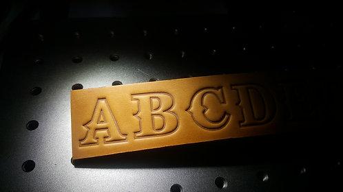 War Font Alphabet set